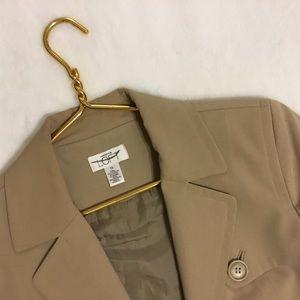 Ann Taylor Loft Tan Bolero Trench Coat Jacket 10